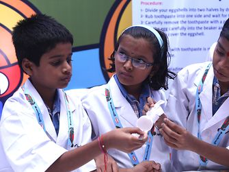 Henkel India Reasearchers World - Children learning about skin, hair and oral care